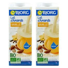 bjorg lait d 39 amande vanille bio lot de 2x1l. Black Bedroom Furniture Sets. Home Design Ideas
