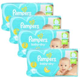 Pampers Babydry Couches T2 - 4/8kg - Format Géant