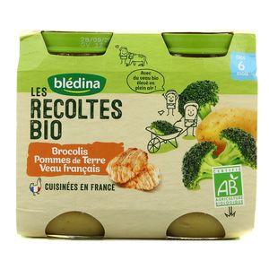 Blédina Les récoltes Bio Brocolis Pommes de Terre Veau française Dès 6 mois