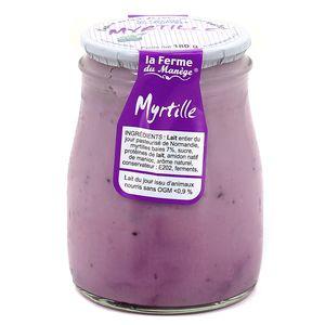 La Ferme du manège Yaourt Myrtille au lait entier