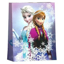 Reine Des Neiges Sac cadeau format Livre avec cordelettes