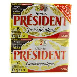 Président Beurre plaquette doux