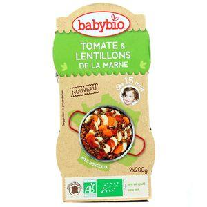 Tomate et lentillons de la Marne Bio, dès 15 mois, 2x,BABYBIO,2x