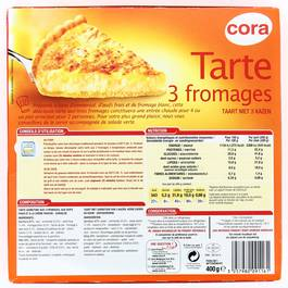 Cora Tarte aux 3 fromages