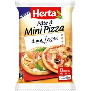 Herta Pâte à Mini Pizza, 265g