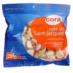 Cora noix de saint jacques avec corail 400g - Cuisiner des noix de st jacques avec corail ...