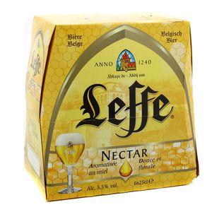 Leffe Nectar Bière blonde d'abbaye aromatisée au miel 5.5°