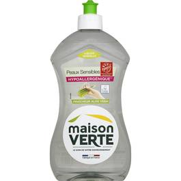 Liquide vaisselle peaux sensibles fraicheur Aloe Vera,MAISON VERTE,500ml