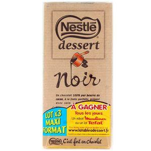 chocolat noir dessert nestle 3x205g
