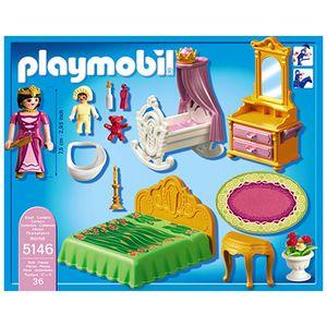 Playmobil princess chambre de la reine avec berceau 5146 - Chambre princesse playmobil ...