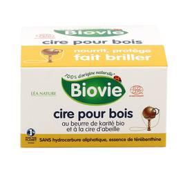 Biovie Cire pour bois au beurre de karité et à la cire d'abeille Ecocert