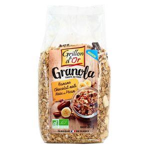 Grillon Or Granola banane chocolat noir noix de pécan bio