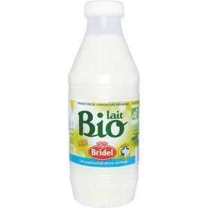Lait demi-ecreme pasteurise bio BRIDEL, 1l