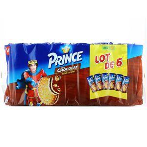 Prince 5 au chocolat + 1 chocolat au lait, 6 x 300 g 1 achete = le 2eme a - 70 %