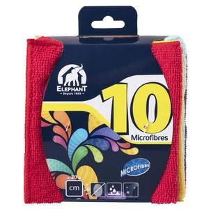 Elephant Lot de 10 lavettes microfibre
