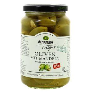 Alnatura  Olives verte  aux amandes bio