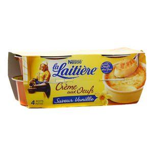 La laitière Crème aux oeufs vanille