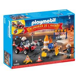 PLAYMOBIL® Christmas Calendrier de l'Avent Pompiers incendie chantier