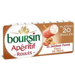 Boursin Apéritif roulé jambon fumé et noix