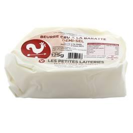 Les Petites Laiteries Beurre Cru à La Baratte demi-sel