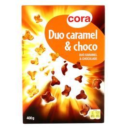 Céréales Duo Caramel et Chocolat