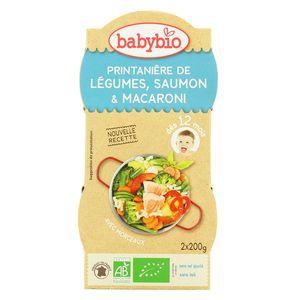 Babybio Printanière de légumes, saumon & macaroni bio dès 12 mois
