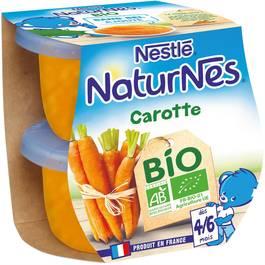 Nestlé Naturnes carotte Bio dès 4/6 mois