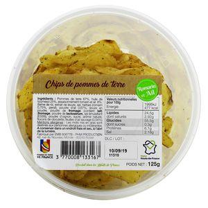 PHM production Chips de pomme de terre ail & romarin