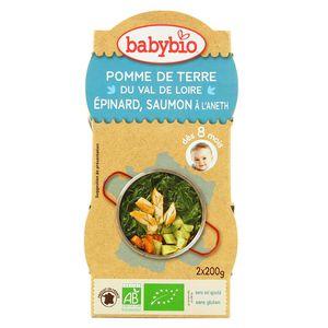 Babybio Pomme de terre, épinard, saumon à l'aneth bio dès 8 mois