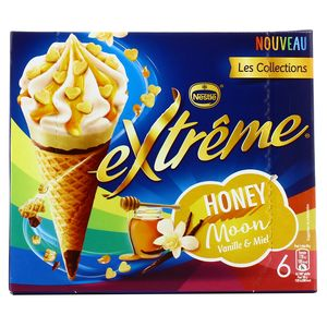 Extrême 6 Cônes glacés Honey Moon- Vanille et miel 6x100ml