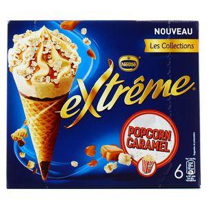 Extrême 6 Cônes glacés Pop Corn Caramel