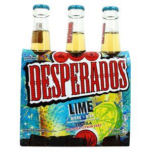 Acheter Desperados Lime Biere Aromatisee Tequila Lemon Cactus 3x33cl