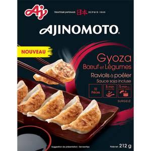 Ajinomoto 10 Gyoza au Bœuf et aux légumes- Raviolis à poêler avec sauce soja incluse