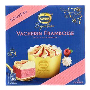 Nestlé Signature 4 Coupes glacées Vacherin Framboise et éclats de meringue 4x110ml