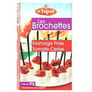 O'Tapas 9 Brochettes de fromage tomate marinée