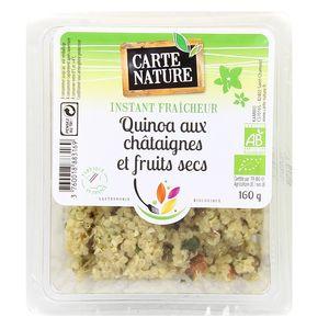 Carte Nature Salade de Quinoa chataignes et  fruits secs, bio