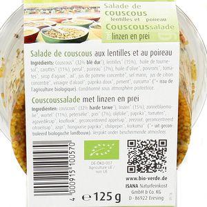 BioVerde Salade bio couscous lentille poireau, végan