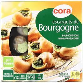 Escargots de Bourgogne pur beurre,CORA,89g