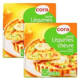 Cora Tarte chèvre et légumes