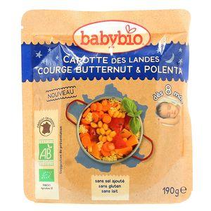 Purée de carottes des Landes, courge butternut et polenta Bonne nuit Doypack 190 g 9.21€/pièce