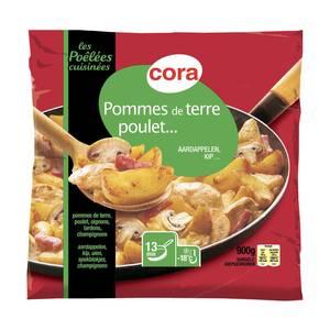 Cora Poêlée de Pommes de terre, poulet, lardons, oignons et champignons