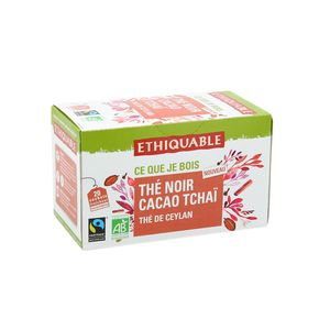 Ethiquable Thé noir cacao tchaï Ceylan BIO