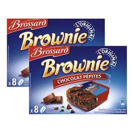 Brossard Mini brownies pépites de chocolat, 2x8 gâteaux