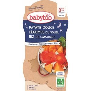 Babybio Patate Douce & Légumes du soleil, Riz de Camargue bio, dès 8 mois
