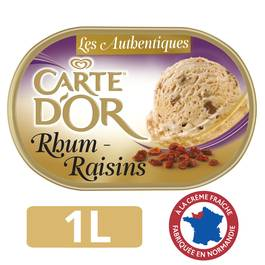 Carte d'Or Crème glacée Rhum Raisins 1 litre