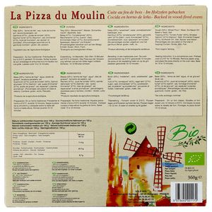La Pizza du Moulin Pizza au Saumon fumé Bio cuite au feu de bois