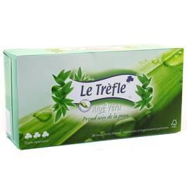 Boite de mouchoir Aloé vera, 80 pièces,LE TRÈFLE,80 mouchoirs