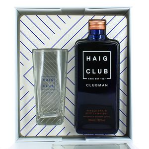 Haig Clubman Scotch whisky single malt 40° coffret avec verre