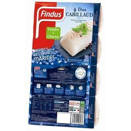 Dos de cabillaud FINDUS, 4 pieces, 440g