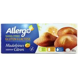 Allergo Madeleines saveur citron sans gluten et sans lactose